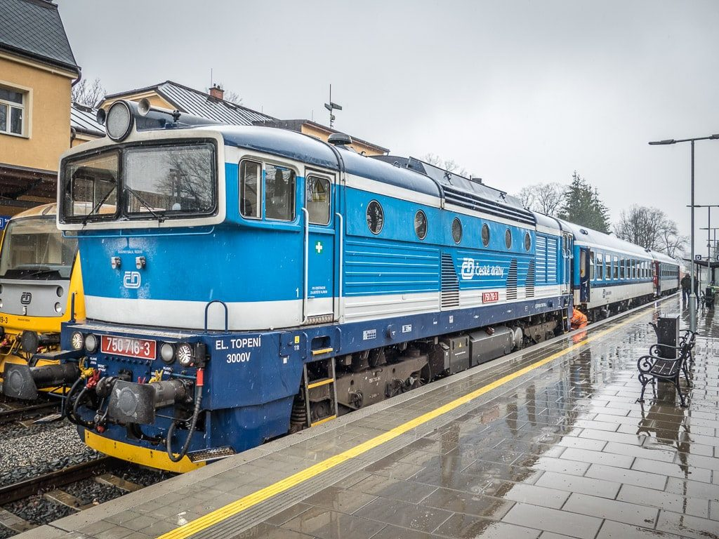 Bahnhof Jesenik Taucherbrille Lok