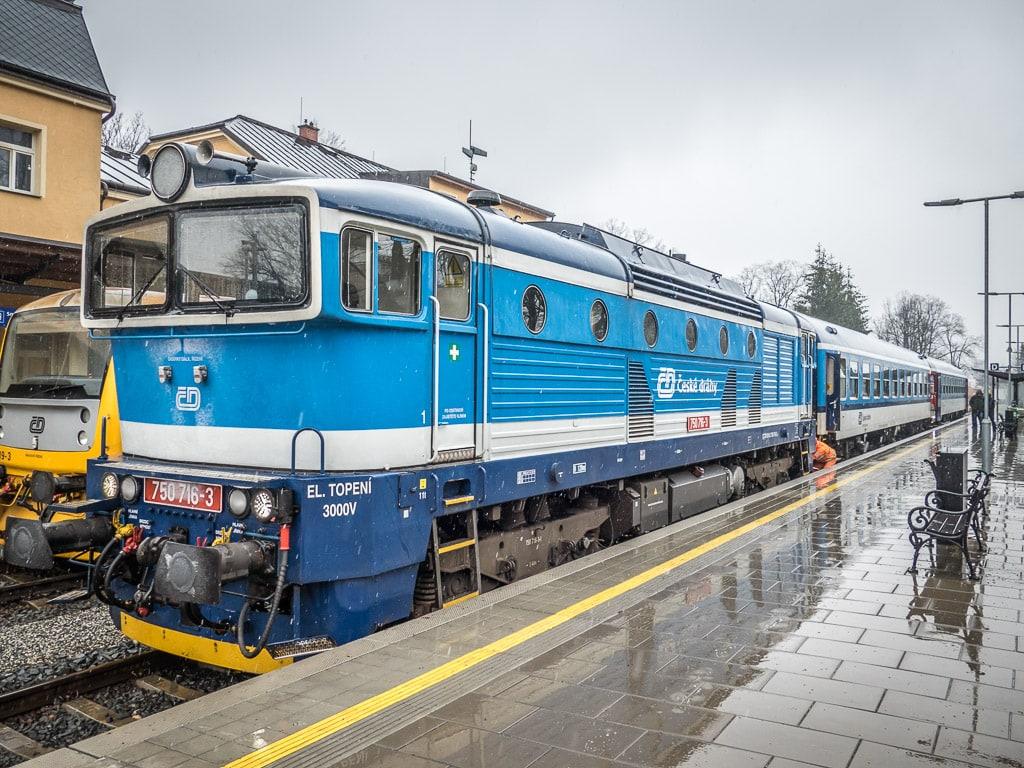 Bahnhof Jeseník Taucherbrille