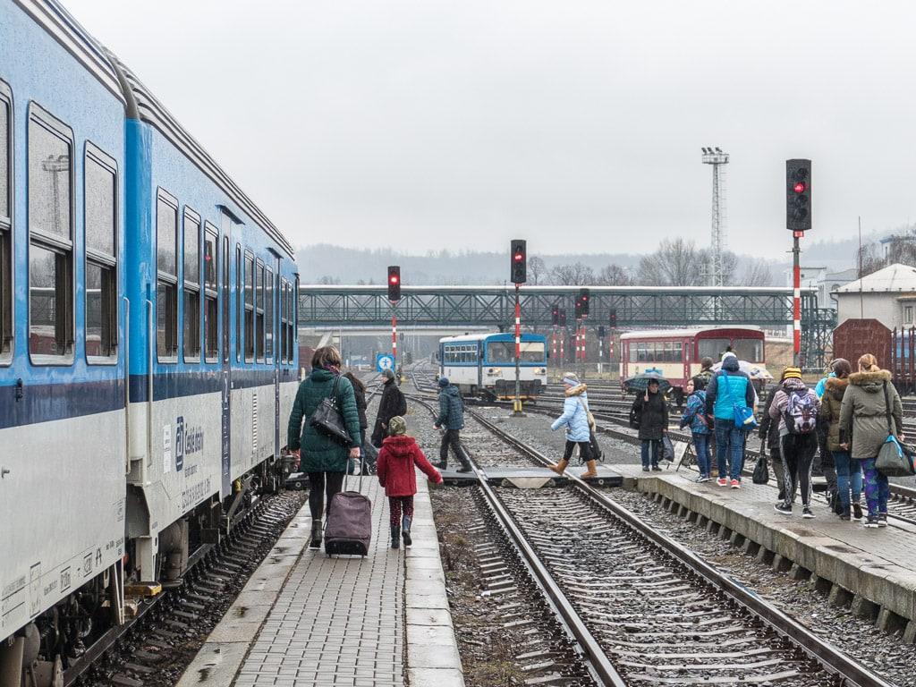 Bahnhof Krnov Umstieg