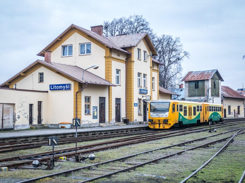 Bahnhof Litomyšl Tschechien Regionova