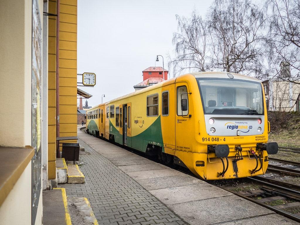 Regionova am Bahnhof Litomysl
