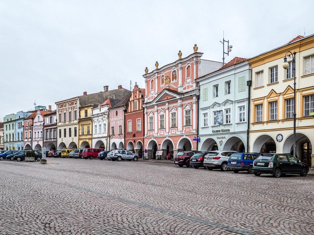 Marktplatz Litomyšl Fassaden