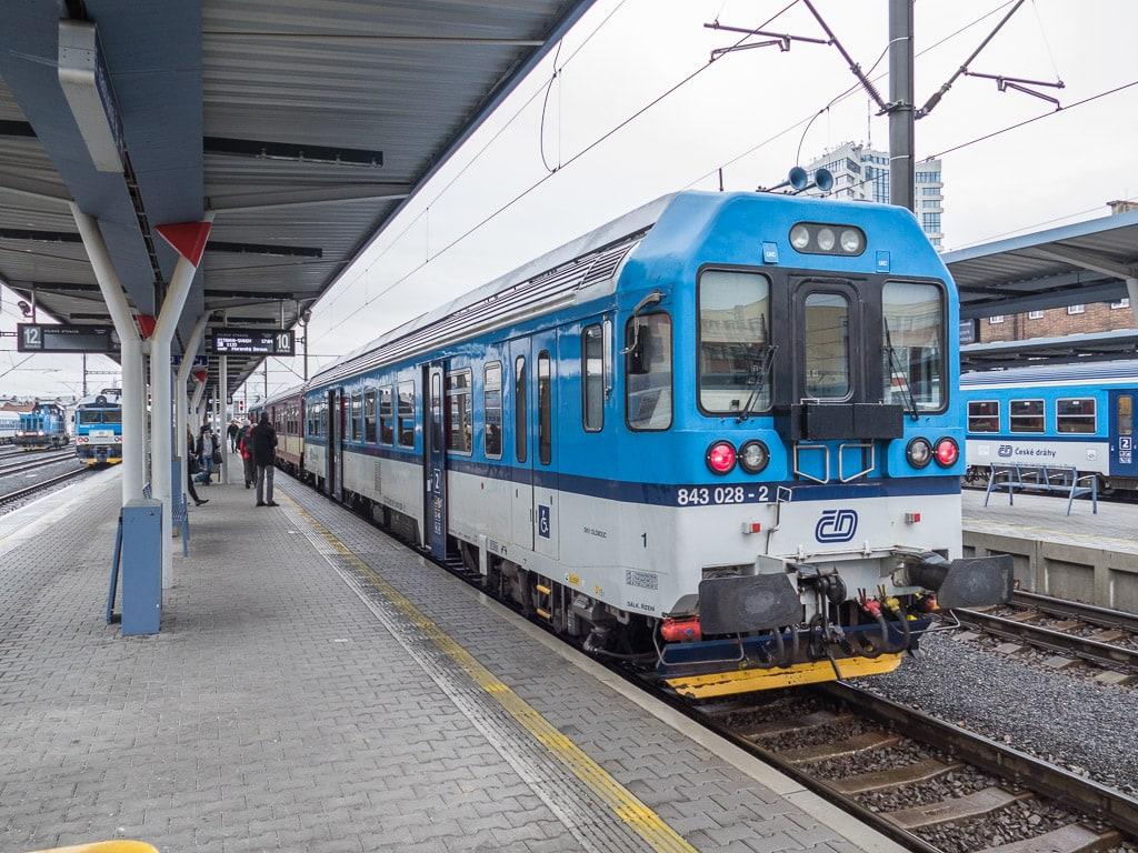 Bahnhof Olomouc Bahnsteig