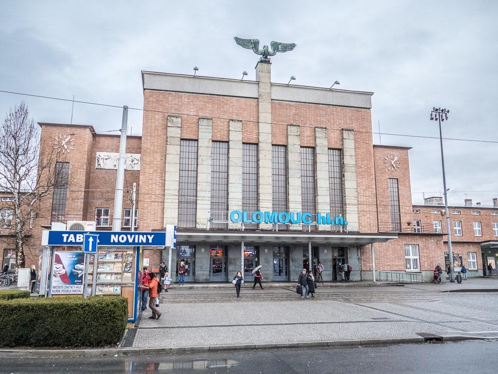 Hauptbahnhof Olomouc Empfangsgebäude