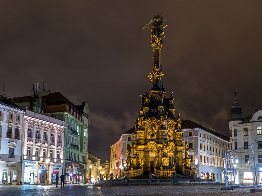 Dreifaltigkeitssäule Olomouc Nacht