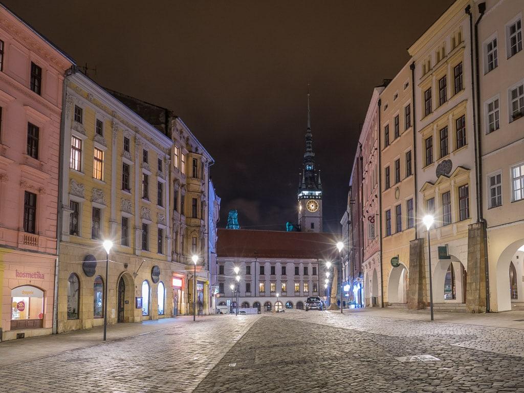 Olomouc Altstadt Nacht Rathaus