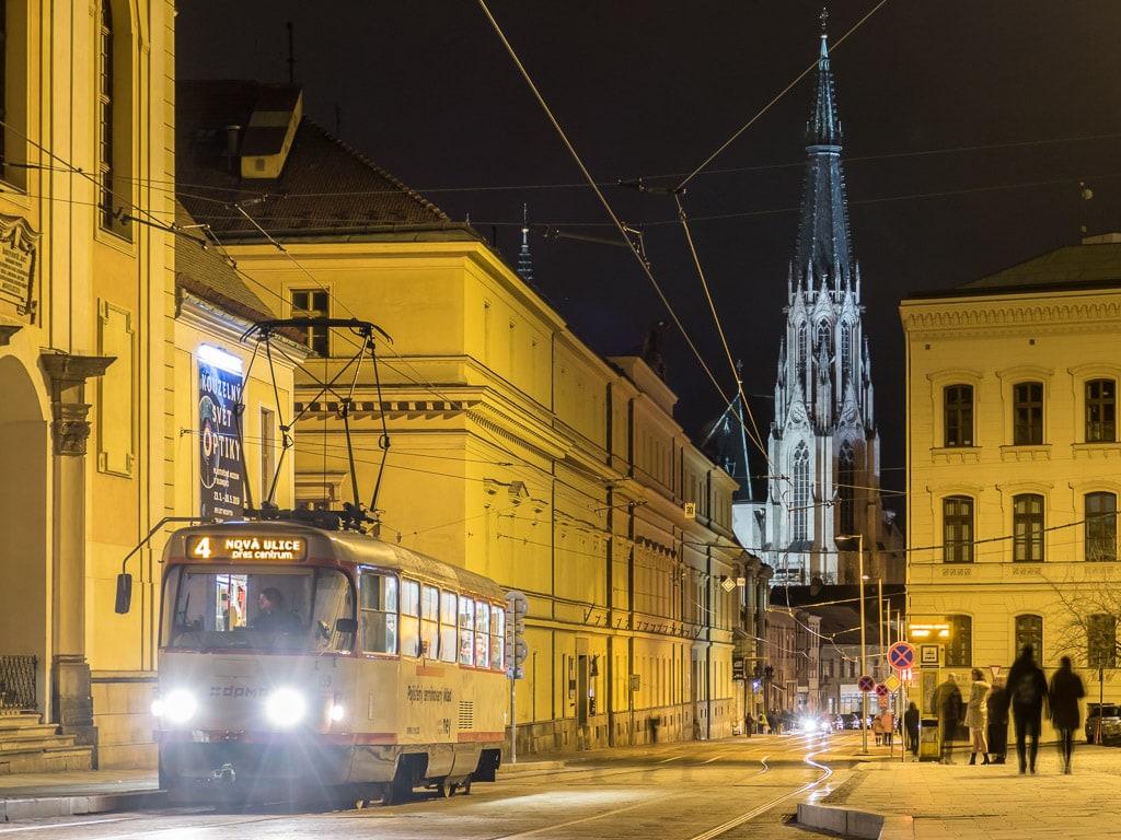 Olomouc Tram Nacht