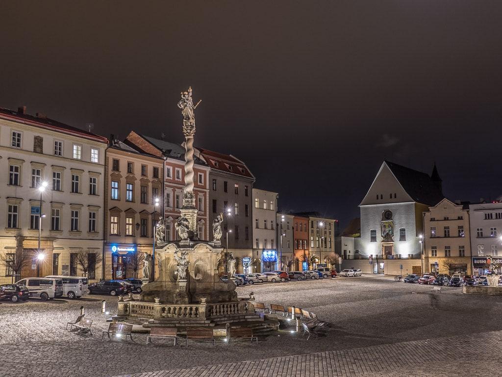 Olomouc Dolní náměstí Nacht