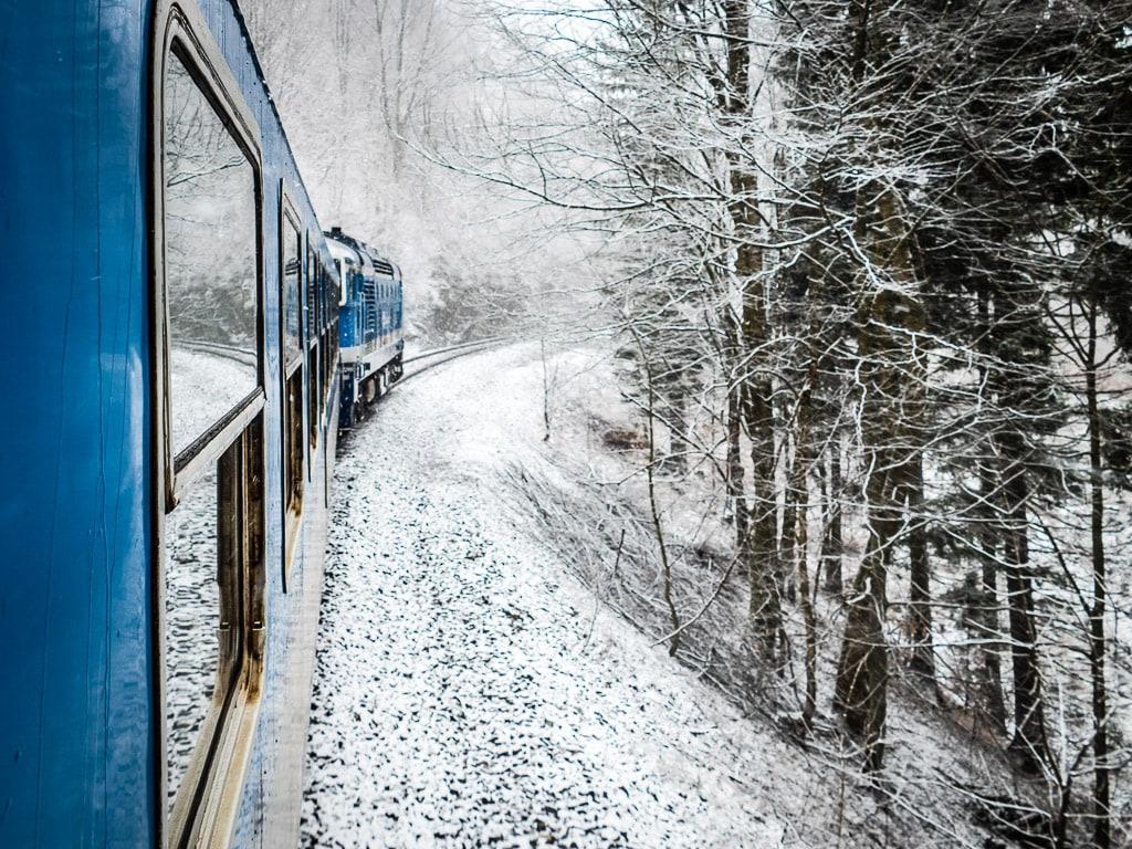 Schlesischer Semmering Ramsauer Sattel Schnee Winter