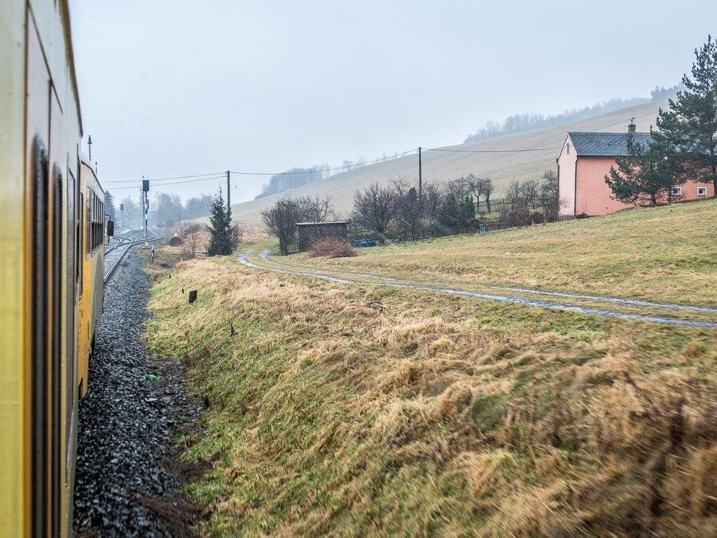 Bahnstrecke Polen Zugfenster Regionova