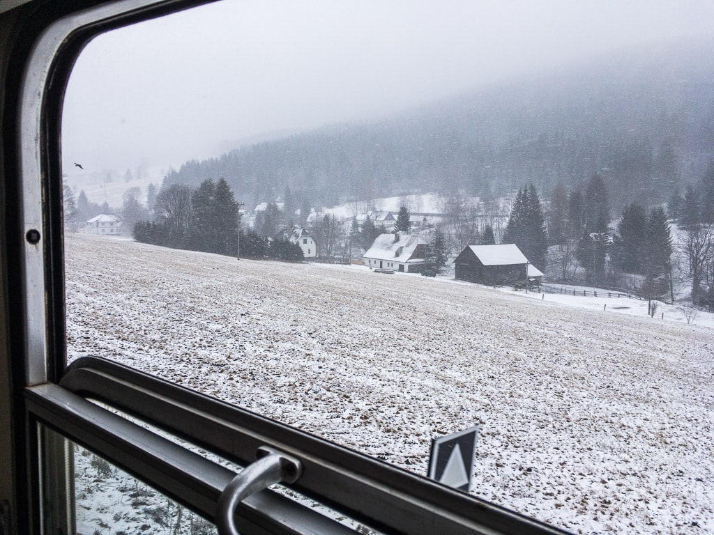 Schlesischer Semmering Fenster auf Schnee