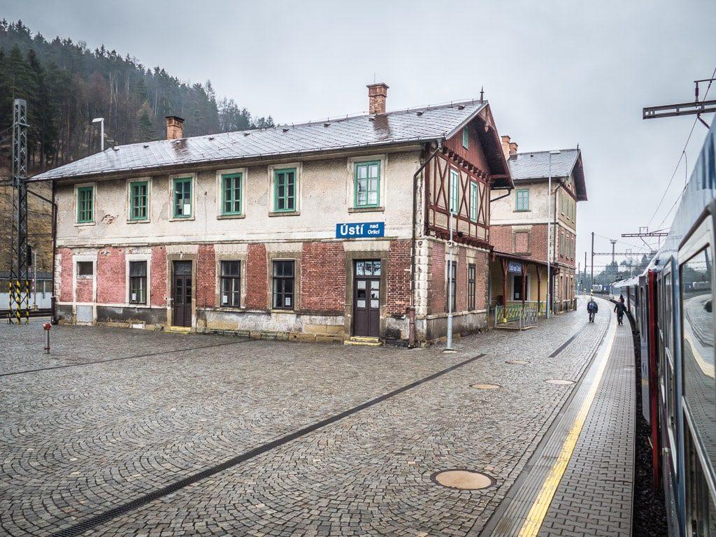 Usti nad Orlici Bahnhof Schnellzug