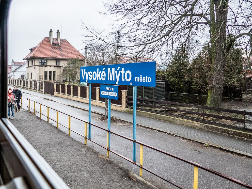 Bahnhof Vysoke Myto Mesto