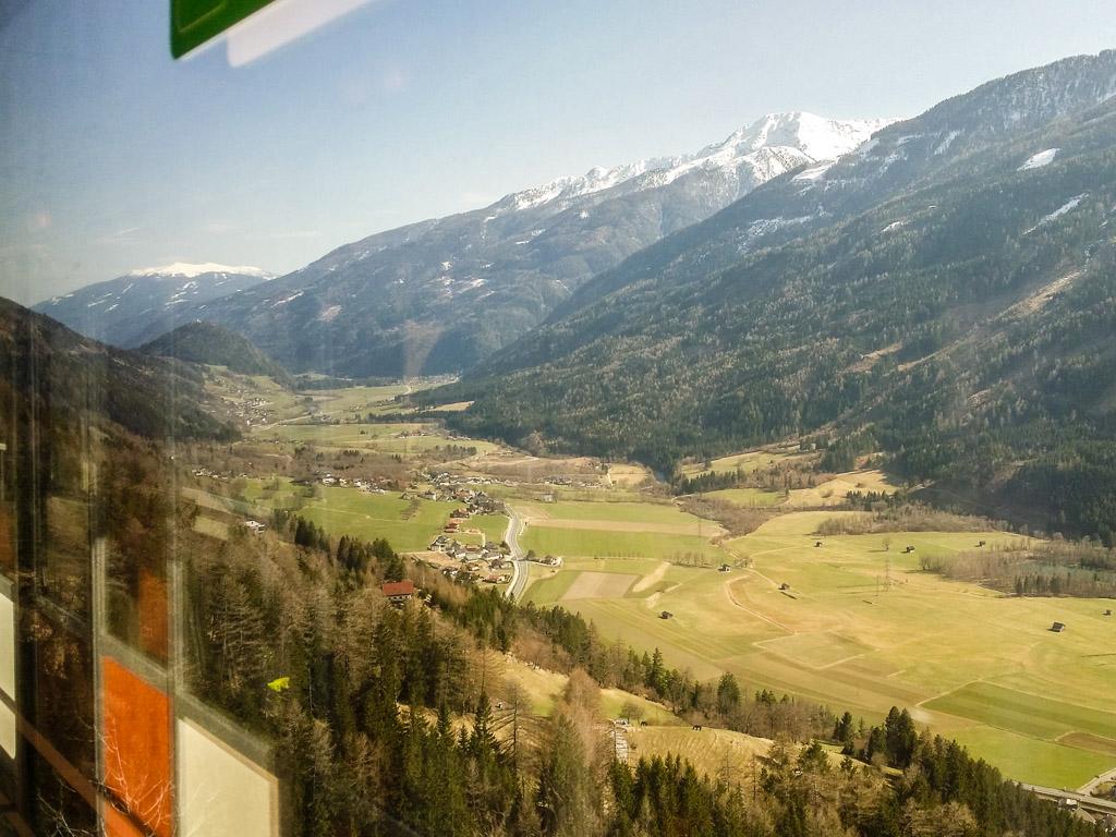 Alpen Aussicht Zug