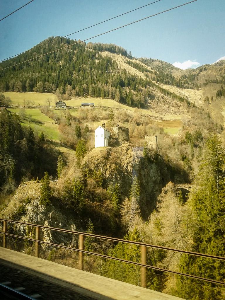 Landschaft Alpen Kapelle