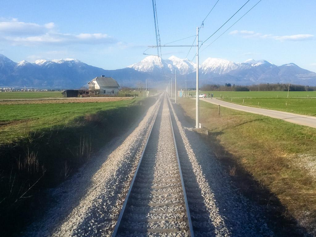 Bahnstrecke Slowenien Jesenice Ljubljana