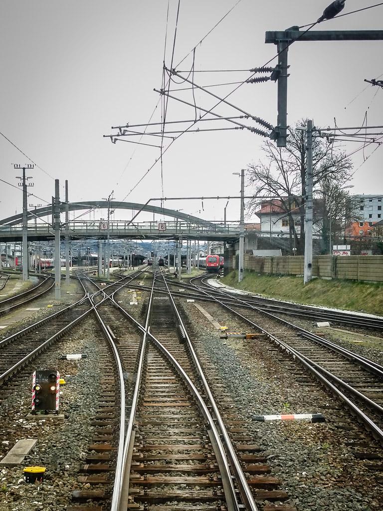 Gleisvorfeld Villach Hauptbahnhof