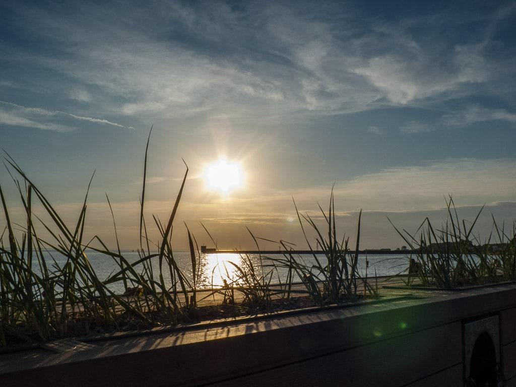 Hel Polen Ostsee Sonnenuntergang