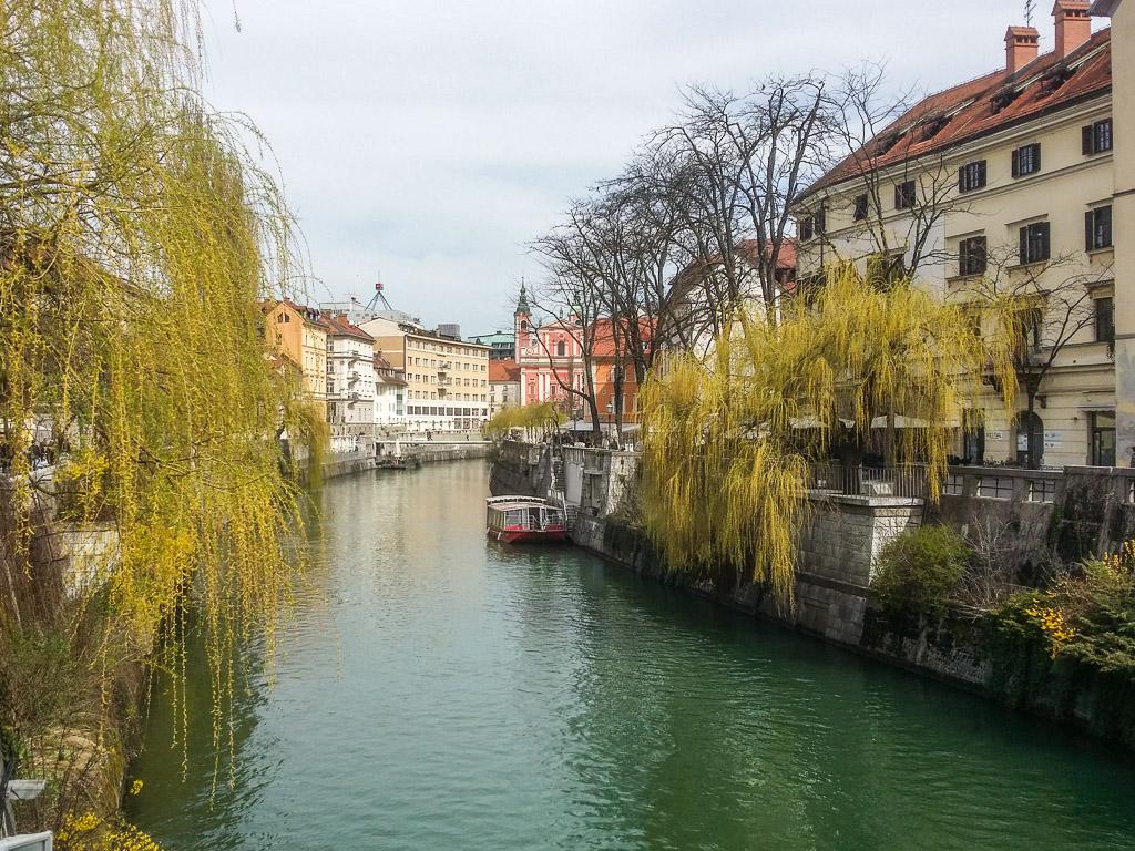 Ljubljana Slowenien Promenade Ljubljanica