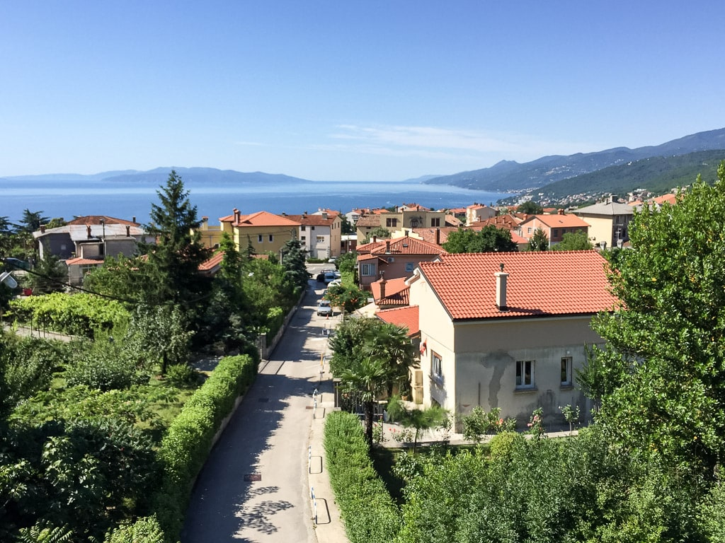 Nachtzug Istria Aussicht Opatija Rijeka