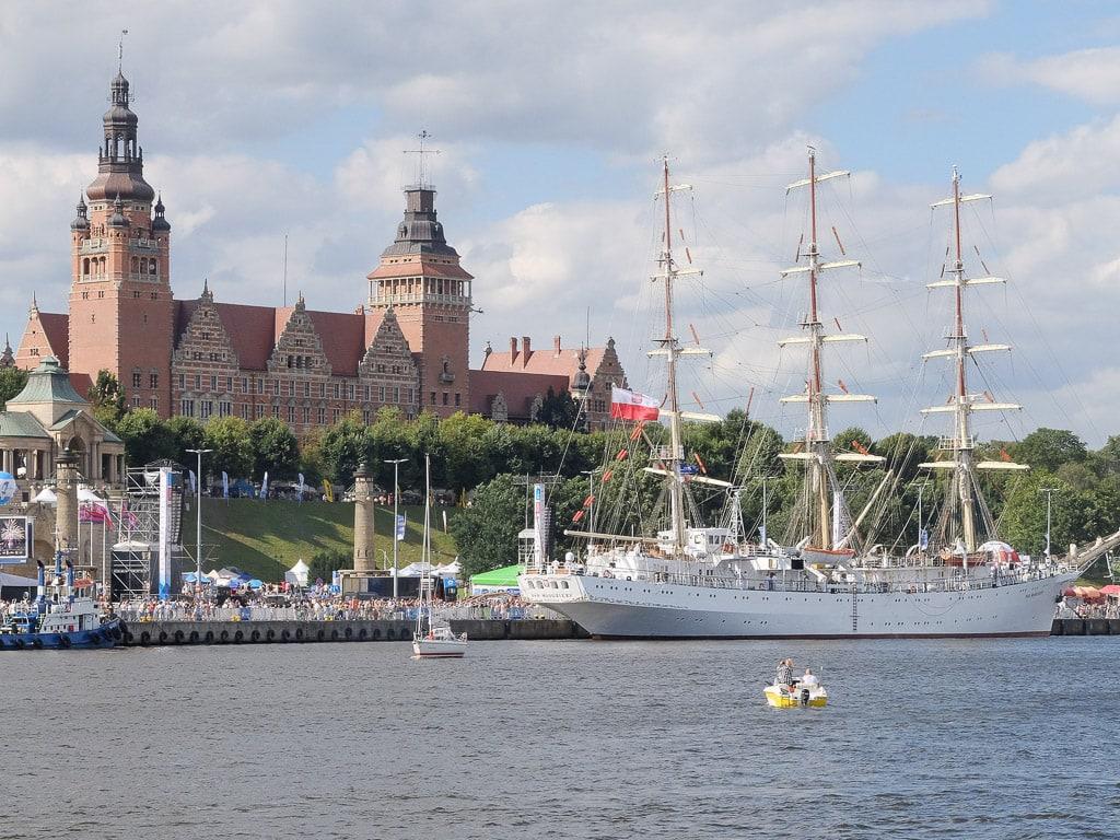 Stettin Polen Segelschiff