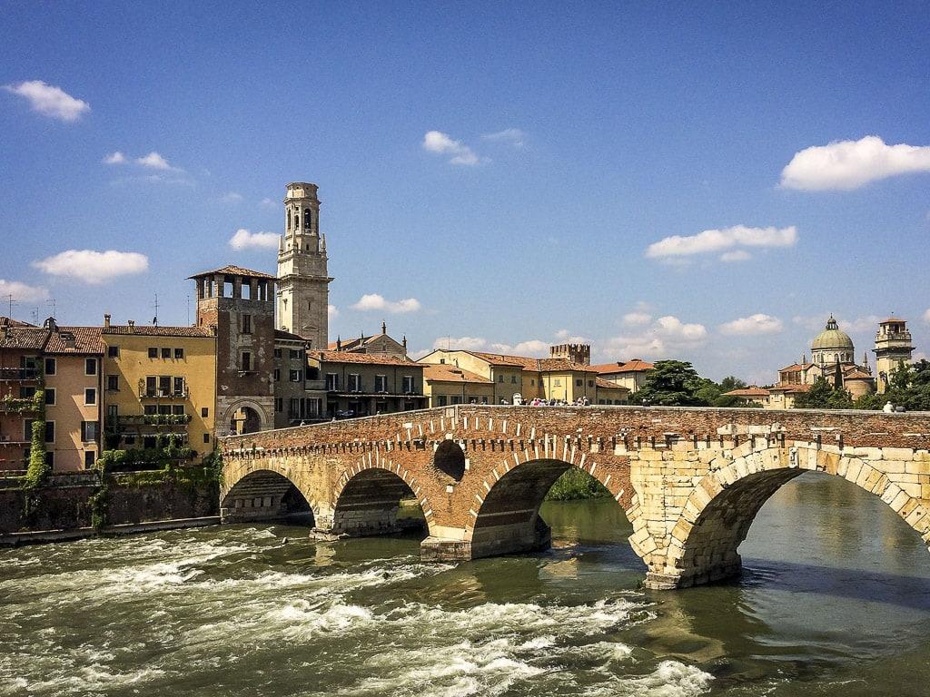 Verona Italien Altstadt Fluss