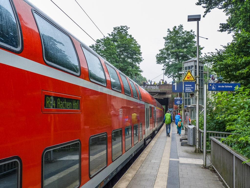 Bahnhof Aachen Schanz Regionalexpress