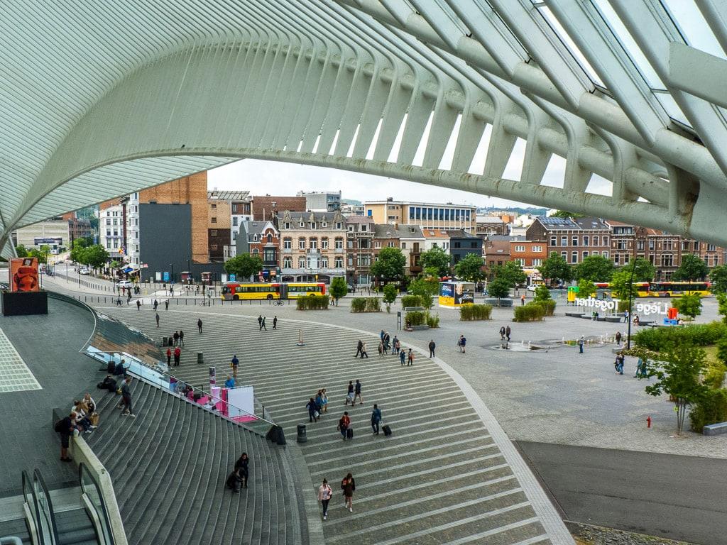 Bahnhof Liège-Guillemins Aussicht