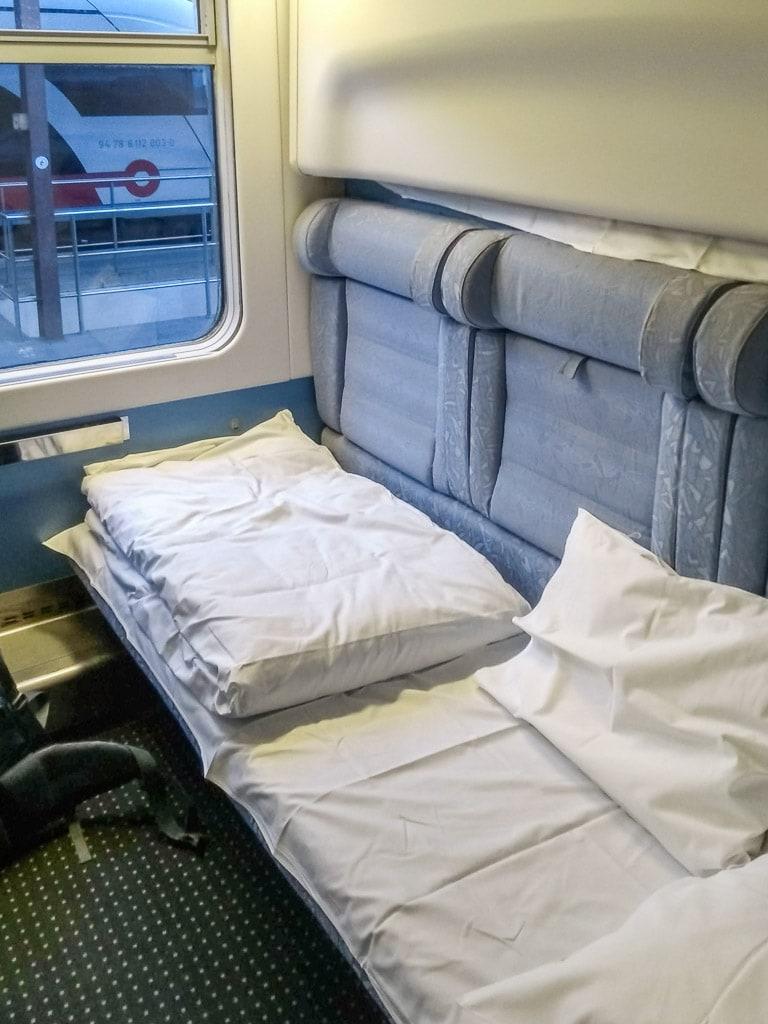 Schlafwagen Nachtzug Zagreb München Bett