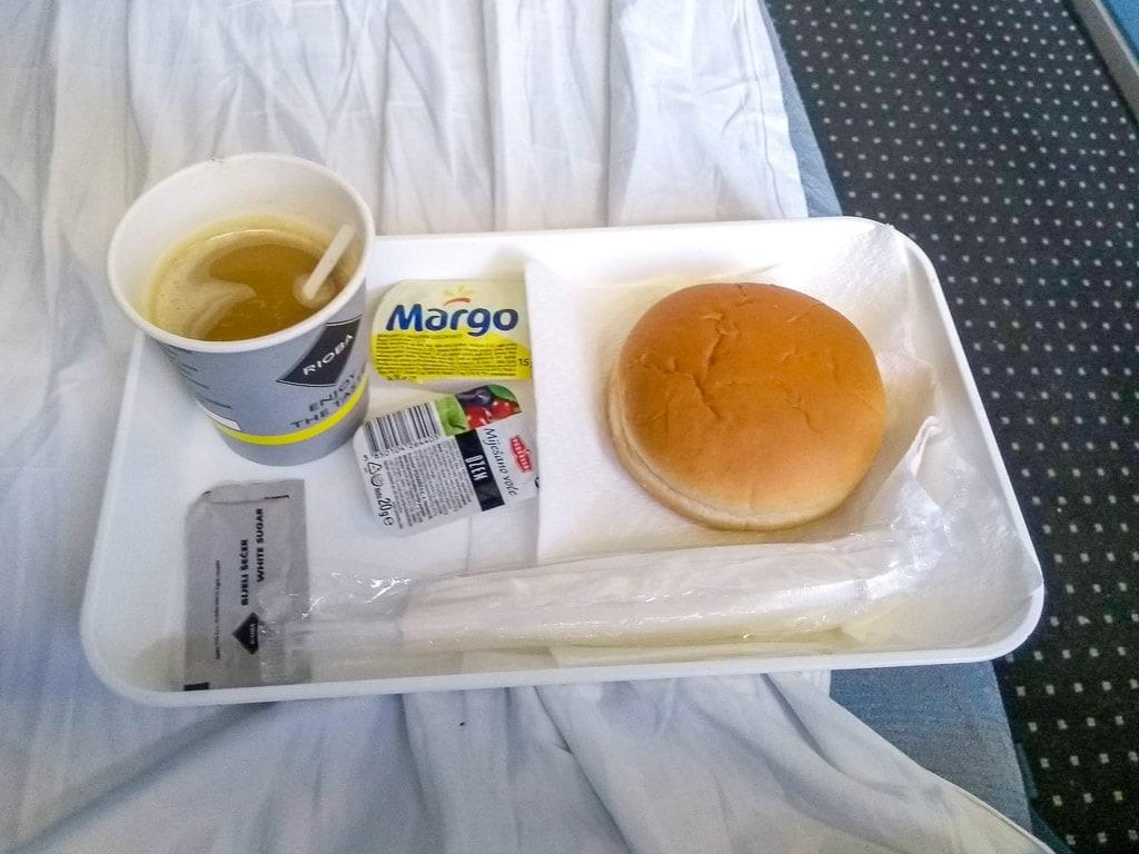 Schlafwagen Nachtzug Zagreb München Frühstück