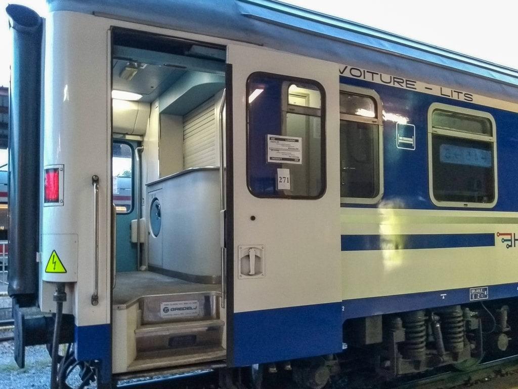 Schlafwagen Nachtzug Zagreb München