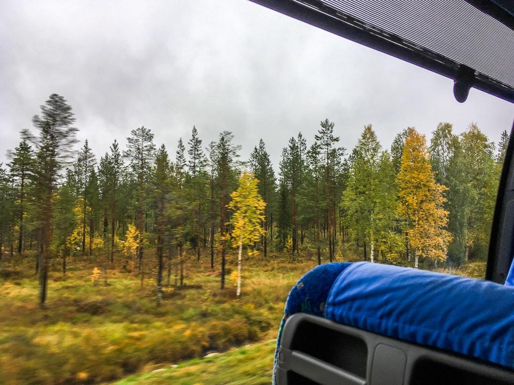 Bus von Rovaniemi nach Kemijärvi