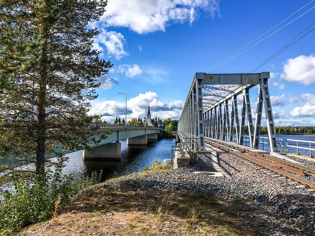 Kemijärvi Lappland Eisenbahn Brücke