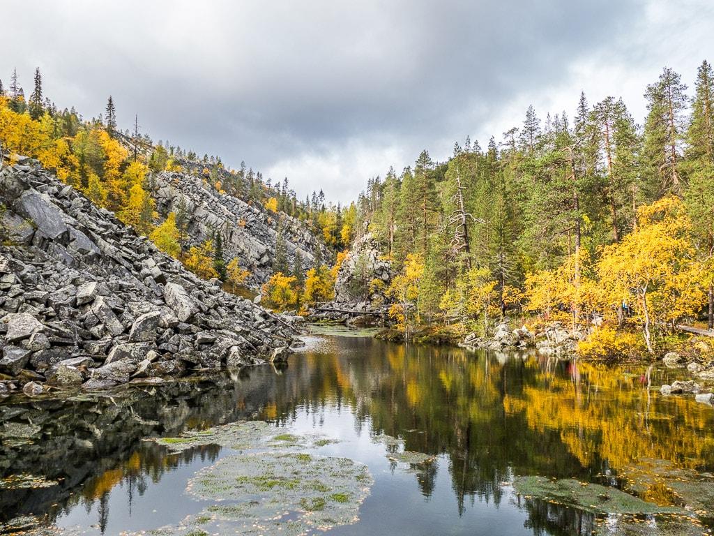 Isokuru-Schlucht Pyhätunturi Lappland