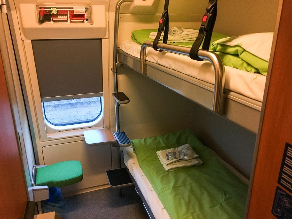 Schlafwagen Finnland Abteil