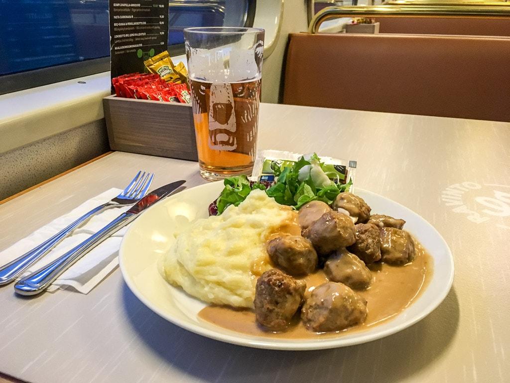 Köttbullar Speisewagen Finnland