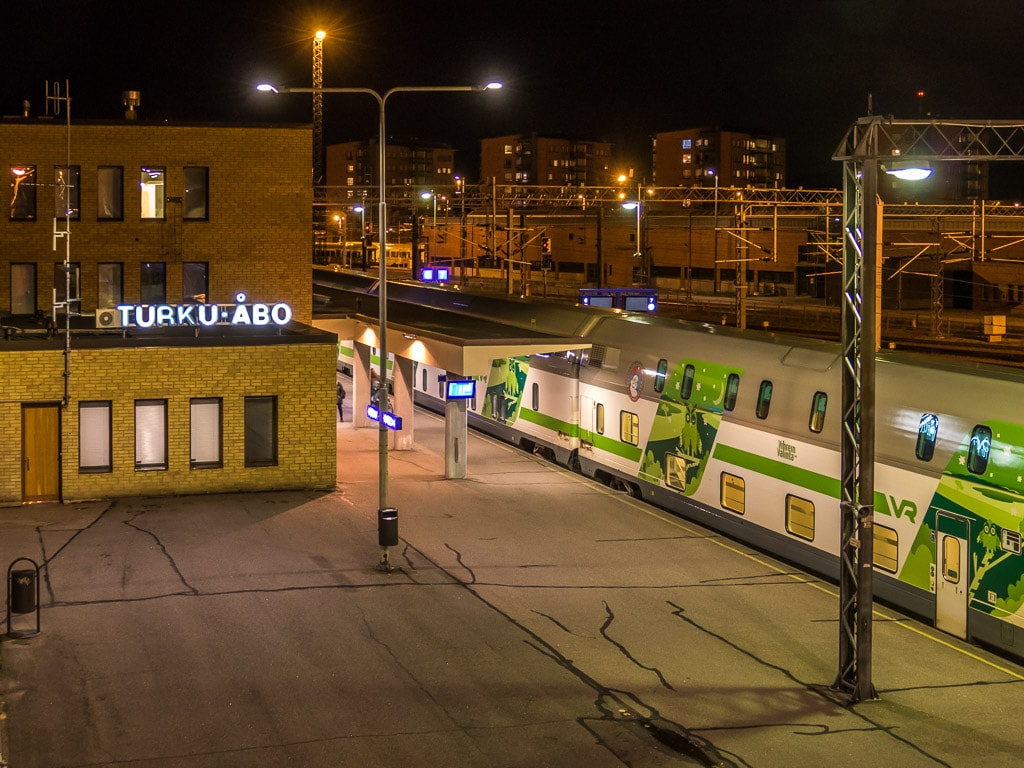 Nachtzug Turku Bahnhof