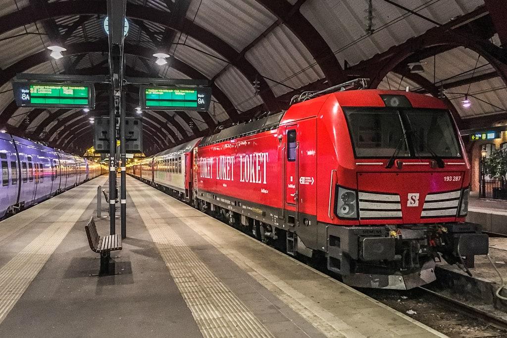 Snälltåget Malmö Schweden