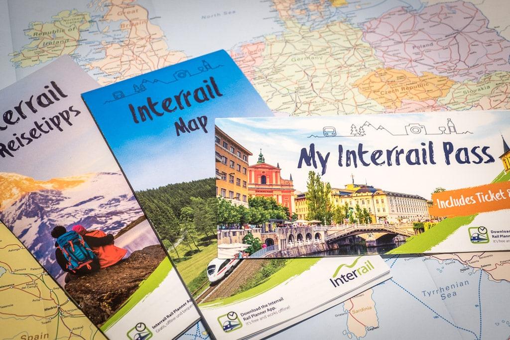 Interrail Ticket Karte Reisetipps Reiseunterlagen