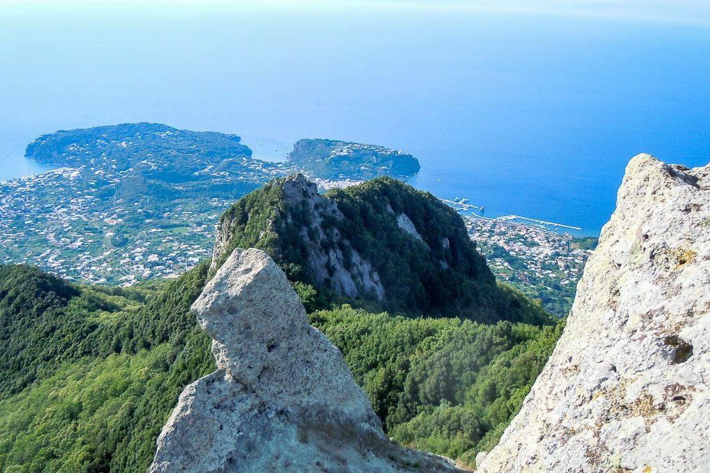 Aussicht vom Monte Epomea Ischia Golf von Neapel
