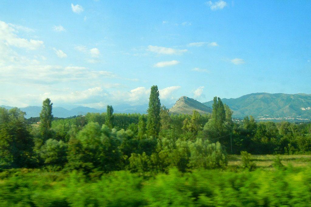 Italien Zug Bahnstrecke Freciarossa