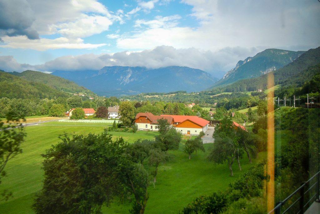 Semmeringbahn Österreich Alpen Zug Aussicht
