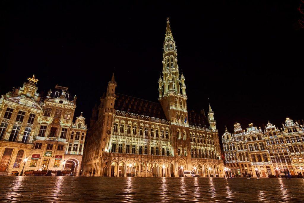 Rathaus Brüssel Bruxelles Belgien Nacht