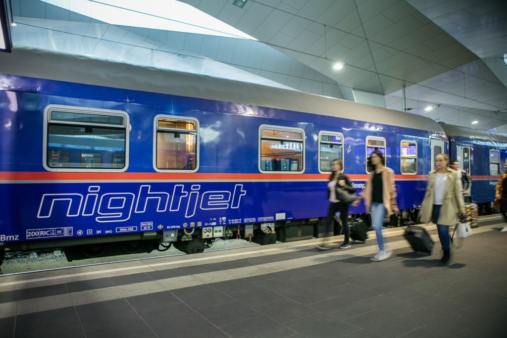 Nightjet Wien Hauptbahnhof