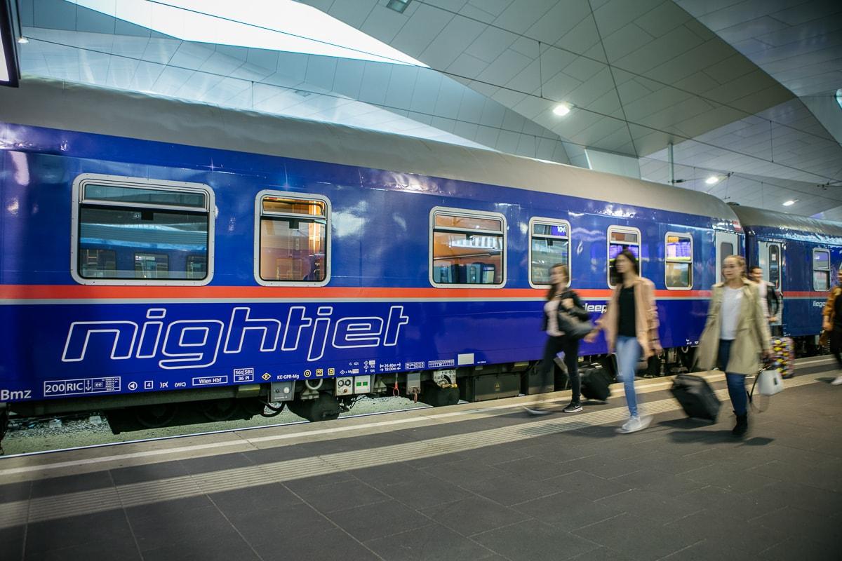 ÖBB Nightjet Wien Innsbruck Brüssel