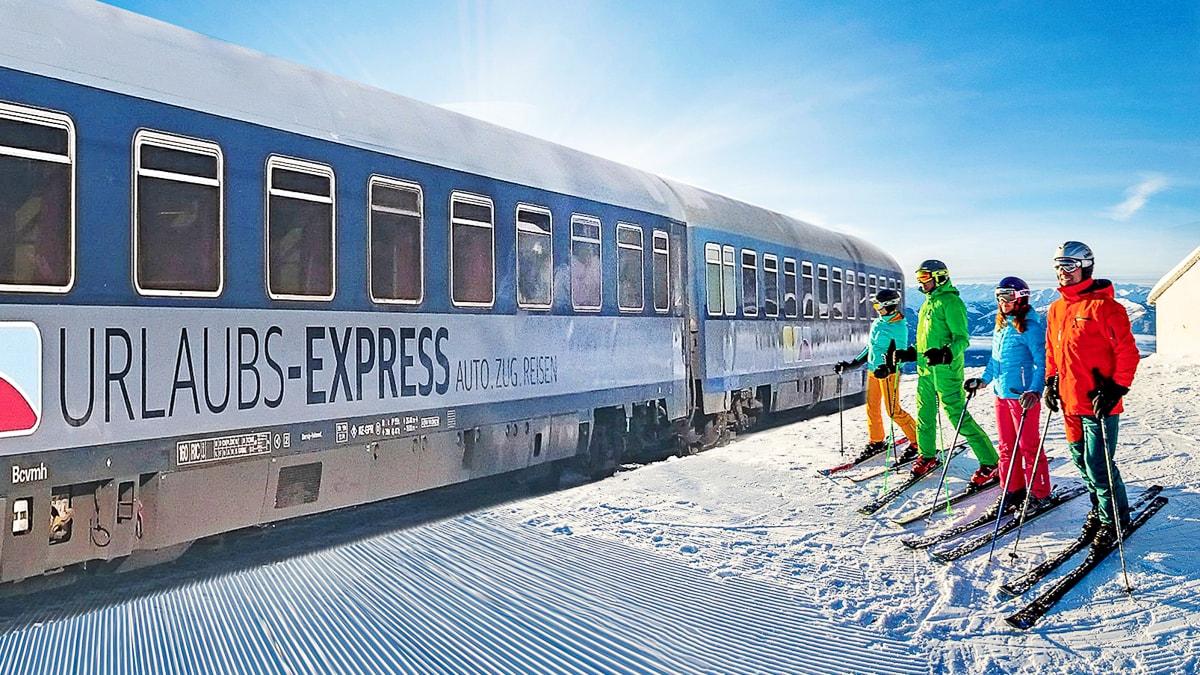 Urlaubs-Express Wintersport Nachtzug Ski Hamburg Münster St. Anton am Arlberg