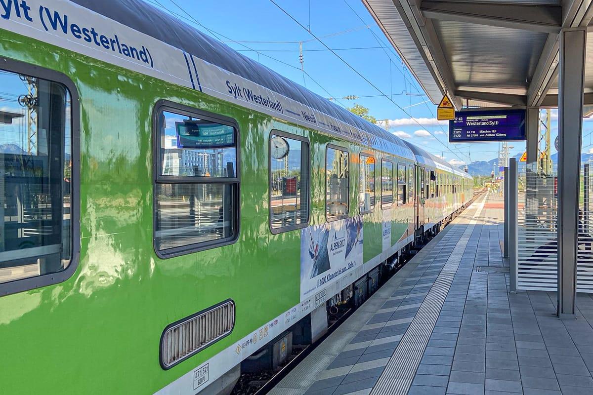 Alpen-Sylt-Nachtexpress von Salzburg nach Westerland (Sylt)
