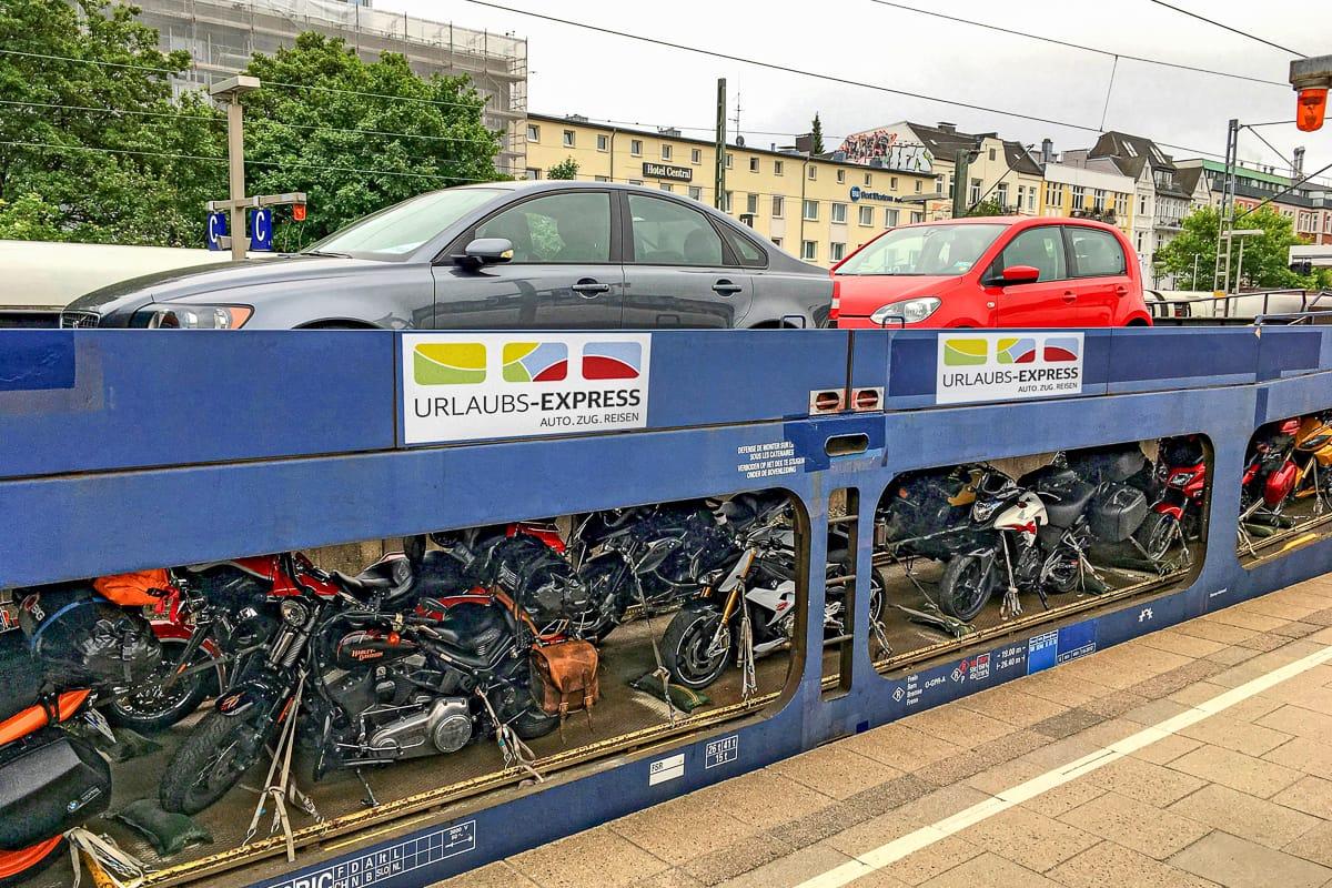 Urlaubs-Express Autoreisezug Hamburg Düsseldorf Villach Innsbruck