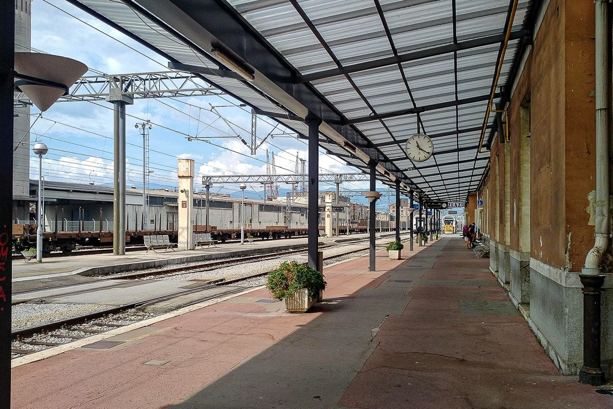 Bahnhof von Rijeka, Kroatien
