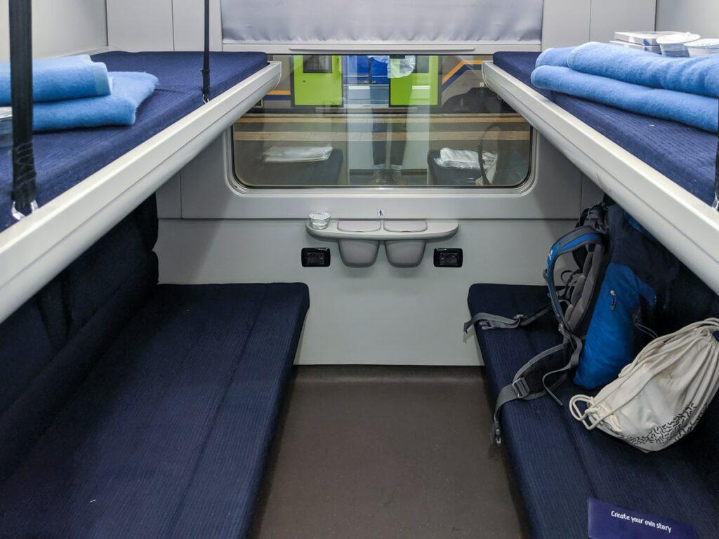 Intercity Notte Nachtzug Italien Liegewagen Abteil Betten